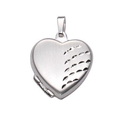 ZEEme Basic Anhänger 925/- Sterling Silber Herz Medaillon