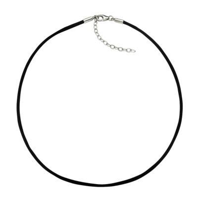 ZEEme Basic Collier Textilband mit 925/- Silber Verschluß