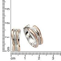 ZEEme Basic Creolen 925/- Sterling Silber rosévergoldet mit Zirkonia - Produktdetailbild 1