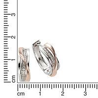 ZEEme Basic Creolen 925/- Sterling Silber bicolor - Produktdetailbild 1
