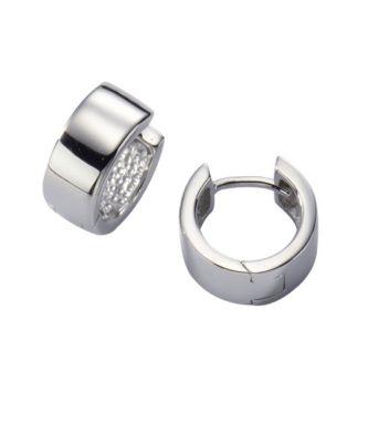 ZEEme Basic Creolen 925/- Sterling Silber rhodiniert