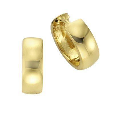 ZEEme Basic Creolen 925/- Sterling Silber vergoldet