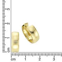 ZEEme Basic Creolen 925/- Sterling Silber vergoldet - Produktdetailbild 1