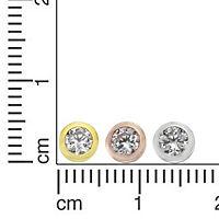 ZEEme Basic Ohrstecker 925/- Sterling Silber 3er Set Zirkonia - Produktdetailbild 1