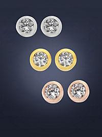 ZEEme Basic Ohrstecker 925/- Sterling Silber 3er Set Zirkonia - Produktdetailbild 3