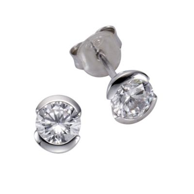ZEEme Basic Ohrstecker 925/- Sterling Silber Zirkonia weiß