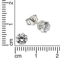 ZEEme Basic Ohrstecker 925/- Sterling Silber Zirkonia weiß - Produktdetailbild 1