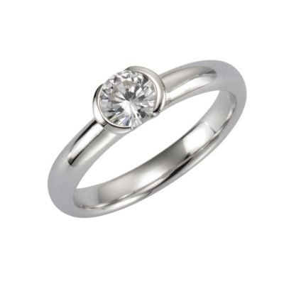 ZEEme Basic Ring 925/- Sterling Silber Zirkonia weiß (Größe: 060 (19,1))