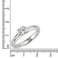 ZEEme Basic Ring 925/- Sterling Silber Zirkonia weiß (Größe: 060 (19,1)) - Produktdetailbild 1