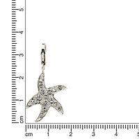 ZEEme Charms & Beads Charm 925/- Sterling Silber Kristall weiß Seestern - Produktdetailbild 1