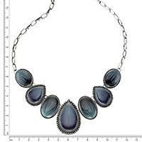 ZEEme Fashion Collier Metall Lack blau - Produktdetailbild 1