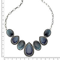 ZEEme Fashion Collier Metall Lack blau - Produktdetailbild 2