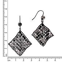ZEEme Fashion Ohrhänger Metall Stein schwarz - Produktdetailbild 1