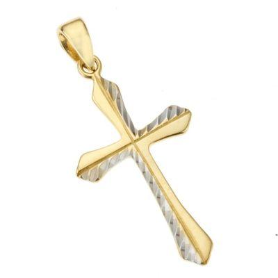 Zeeme For Kids Anhänger 333/- Gold ohne Stein 2,8cm Diamantiert