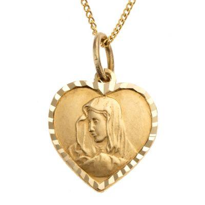 ZEEme for Kids Anhänger mit Kette 333/- Gelbgold Herz Madonna