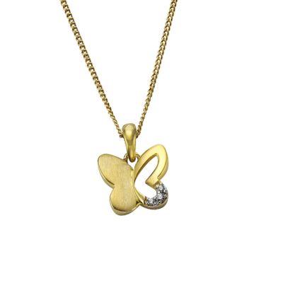 ZEEme for Kids Anhänger mit Kette 333/- Gold bicolor Schmetterling