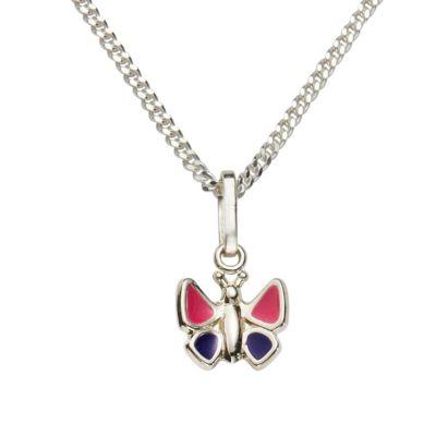 ZEEme for Kids Anhänger mit Kette 925/- Sterling Silber Lack pink lila