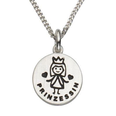 ZEEme for Kids Anhänger mit Kette 925/- Sterling Silber Prinzessin