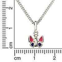 ZEEme for Kids Anhänger mit Kette 925/- Sterling Silber Lack pink lila - Produktdetailbild 1