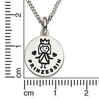 ZEEme for Kids Anhänger mit Kette 925/- Sterling Silber Prinzessin - Produktdetailbild 1