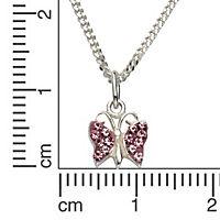 ZEEme for Kids Anhänger mit Kette 925/- Sterling Silber Kristall pink - Produktdetailbild 1