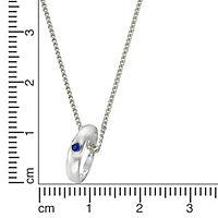 ZEEme for Kids Anhänger mit Kette 925/- Sterling Silber Safir blau - Produktdetailbild 1