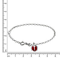 ZEEme For Kids Armband 925/- Sterling Silber Marienkäfer - Produktdetailbild 1