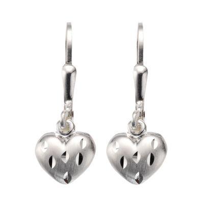 ZEEme for Kids Ohrhänger 925/- Sterling Silber Herz diamantiert