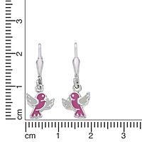 ZEEme for Kids Ohrhänger 925/- Sterling Silber Lack weiß rosa - Produktdetailbild 1