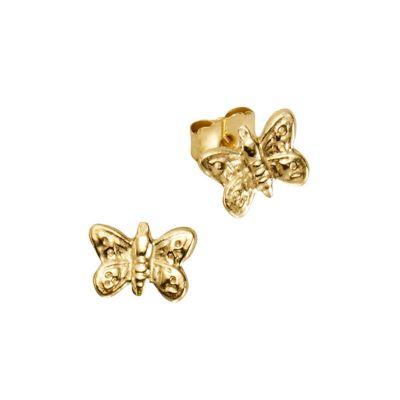 ZEEme for Kids Ohrstecker 333/- Gelbgold Schmetterlinge
