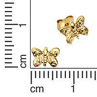 ZEEme for Kids Ohrstecker 333/- Gelbgold Schmetterlinge - Produktdetailbild 1