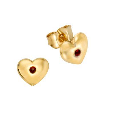 ZEEme for Kids Ohrstecker 333/- Gelbgold Kristall rot