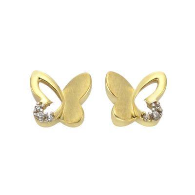 ZEEme for Kids Ohrstecker 333/- Gold bicolor Schmetterling