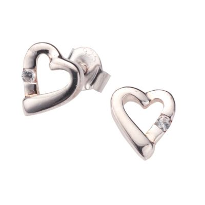 ZEEme for Kids Ohrstecker 925/- Sterling Silber Zirkonia weiß