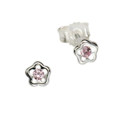 ZEEme for Kids Ohrstecker 925/- Sterling Silber Kristall pink