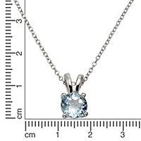 Zeeme Gemstones Anhänger mit Kette 925/- Sterling Silber Blautopas beh. blau 42+3cm Glänzend - Produktdetailbild 1