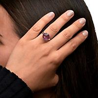 Zeeme Gemstones Ring 925/- Sterling Silber Amethyst lila Geschwärzt 4,7ct. (Größe: 052 (16,6)) - Produktdetailbild 2