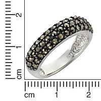 Zeeme Gemstones Ring 925/- Sterling Silber Markasit schwarz Rhodiniert (Größe: 052 (16,6)) - Produktdetailbild 1