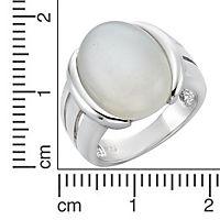Zeeme Gemstones Ring 925/- Sterling Silber Mondstein weiß Rhodiniert (Größe: 054 (17,2)) - Produktdetailbild 1