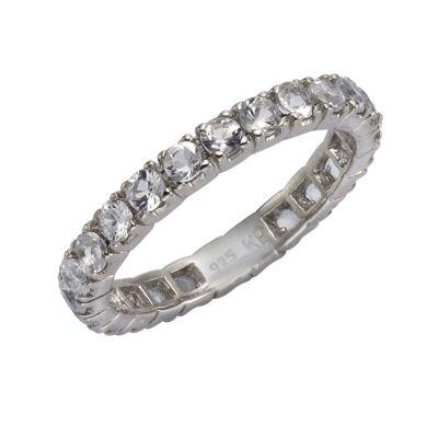 Zeeme Gemstones Ring 925/- Sterling Silber Weißtopas weiß Glänzend (Größe: 056 (17,8))
