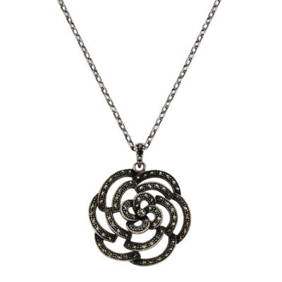 ZEEme Jewelry Anhänger mit Kette 925/- Sterling Silber Markasit