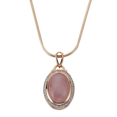 ZEEme Jewelry Anhänger mit Kette 925/- Sterling Silber Rosenquarz