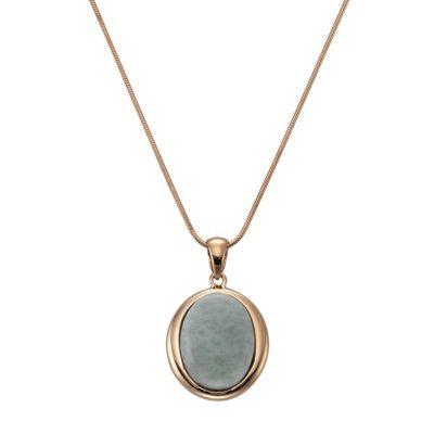 ZEEme Jewelry Anhänger mit Kette 925/- Sterling Silber Larimar
