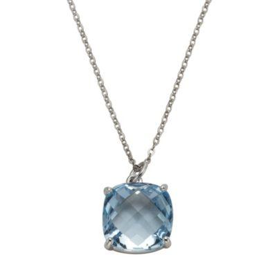 ZEEme Jewelry Anhänger mit Kette 925/- Sterling Silber Blautopas