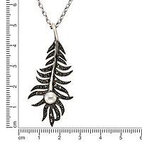 ZEEme Jewelry Anhänger mit Kette 925/- Sterling Silber Markasit Perle - Produktdetailbild 1