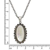 ZEEme Jewelry Anhänger mit Kette 925/- Sterling Silber Perlmutt - Produktdetailbild 2