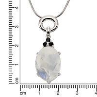ZEEme Jewelry Anhänger mit Kette 925/- Sterling Silber Mondstein Spinell - Produktdetailbild 1