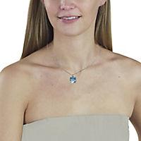 ZEEme Jewelry Anhänger mit Kette 925/- Sterling Silber Blautopas - Produktdetailbild 3