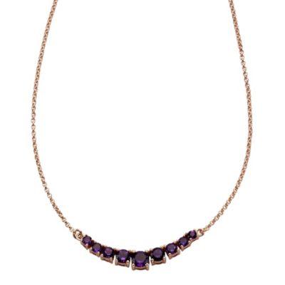 ZEEme Jewelry Collier 925/- Sterling Silber mit Amethyst
