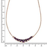 ZEEme Jewelry Collier 925/- Sterling Silber mit Amethyst - Produktdetailbild 1